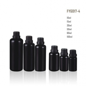 Dark Violet Glass Essential Oil Glass Bottle With Good Quality Stock For Wholesale With Black Lid