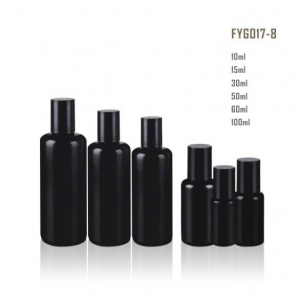 Essential Oil Glass Bottle Roll On Bottle With Plastic Black Round Cap