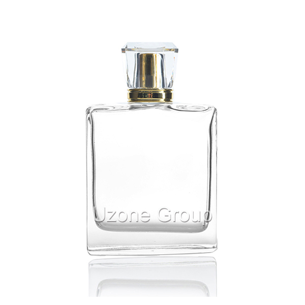 100ml Square Glass Perfume Bottle With Surlyn Cap And Sprayer Featured Image