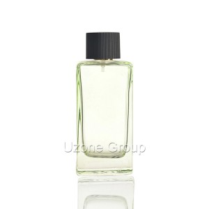 120ml Square Glass Perfume Bottle With Plastic Cap And Sprayer