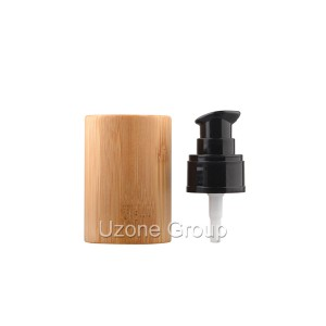 24/410 plastic pump with bamboo cover