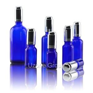 Cobalt Blue Glass Essential Oil Bottle With Aluminum Dropper