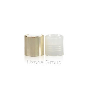 24mm gold screw aluminium cap