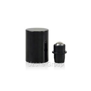 18mm black screw cap for roller on bottle