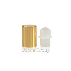 13mm gold aluminium cap for roller on bottle