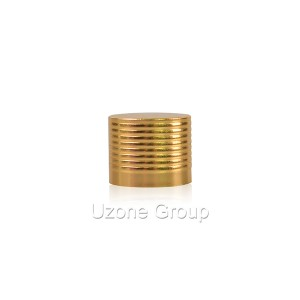 18mm gold threaded aluminium cap