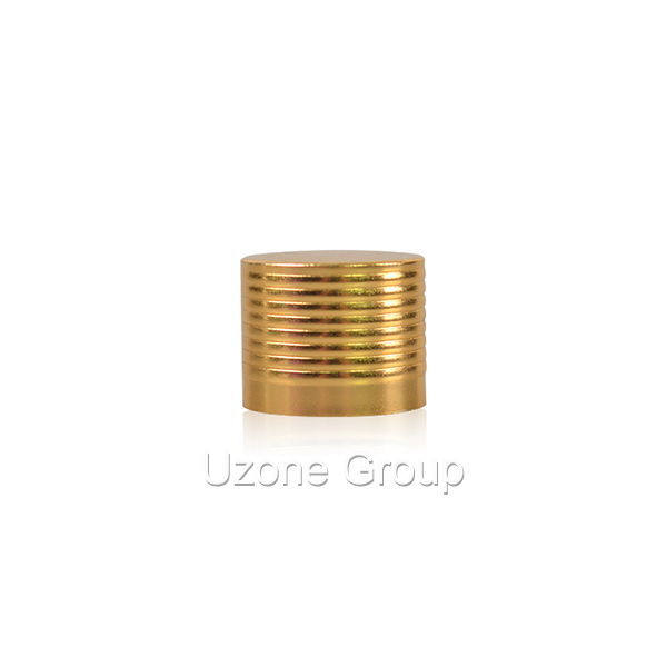 18mm gold threaded aluminium cap Featured Image