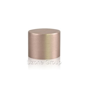 24mm short brushed screw aluminium cap