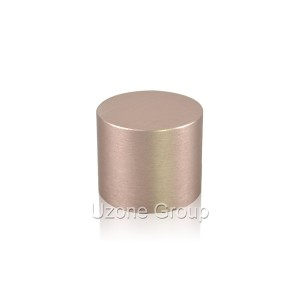 24mm tall brushed screw aluminium cap