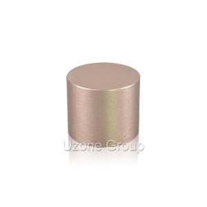 24mm tall brushed screw aluminium cap