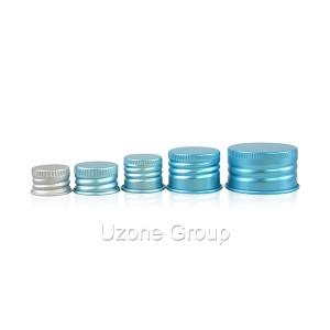 Blue screw aluminium cap