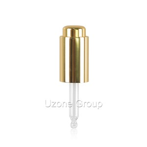 18mm gold aluminium dropper
