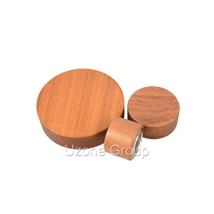 Sapele wooden lid for reed diffuser bottle and cream jar