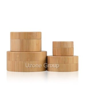 Natural bamboo jar with PP inner